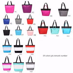 19 Farben Rosa-Schwarz-Handtasche Schultertasche Klassische tragbare Einkaufstasche Mode-Beutel für Frauen-Dame-Tote