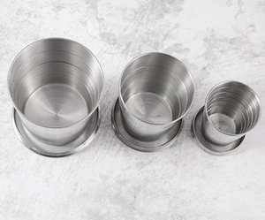 Stainless Steel Portable Cup Outdoor Travel Camping Folding Foldable Collapsible Cup 75ml