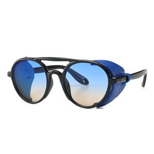 Explosive Retro Steampunk Snakeskin Pattern Sonnenbrillen europäische und amerikanische Street Photography Round Frame UV400 Schutz Sonnenbrillen