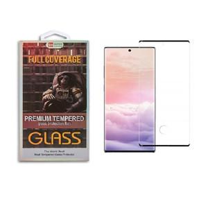 Caso amigável para S10 5G Samsung Galaxy S10 S9 S8 Nota 10 tela mais Note9 3D Curve Borda HD Limpar vidro temperado Protector