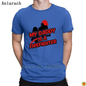 My Daddy Is A Firefighter T-Shirts Graphic Creature Novelty Clothes T Shirt For Men Family 100% Cotton Anlarach Great
