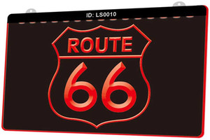 Sinal LS0010 Historic Route 66 Mother Road New 3D gravura LED Light Customize on Demand Cor Múltipla