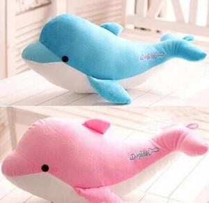 Venta al por mayor- 2016 nuevo 28cm de alta calidad de los delfines lindos almohada muñeca juguetes de peluche delfines muñeca presentes amantes de los juguetes para los niños envío gratis