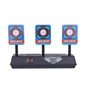 Precision Scoring Auto Reset Electric Target Sound Light Smart Score Target for Kids Shooting Game Guning Toy Accessories Gifts