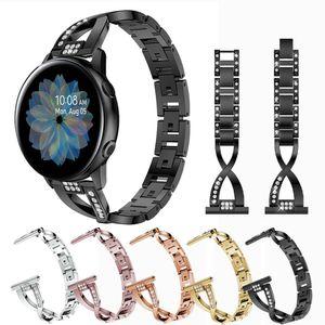 삼성 갤럭시 시계 활성이 44mm의 40mm 여성 금속 블링 스트랩 팔찌 다이아몬드 밴드 스테인레스 스틸 시계 밴드