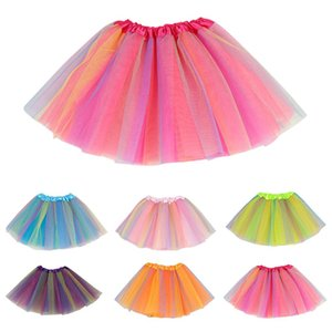 Girls Skirts Baby Ballet Dance Rainbow Tutu Toddler Star Glitter Printed Ball Gown Party Clothes Kids Skirt Children Clothes5tjm#