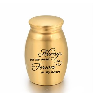 25x16mm Human Ashes Funeral Dog Cremation Urn Casket Container Mini Small No Deformation Memorials For Pets Cat Aluminum alloy