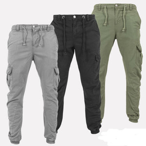YENİ Taktik Kargo Pantolon Erkek Combat Pantolon Pamuk Birçok Cepler Esnek Stretch Adam'a Günlük Pantolon XXXL