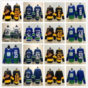 50e Nouveau Vancouver Canucks Hockey 10 Pavel Bure 40 Elias Pettersson 53 Bo Horvat 6 Brock Boeser 89 Alexander Mogilny Thatcher Demko Maillots