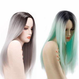 Ombre perucas de cabelo 26inch peruca sintética resistente ao calor Fibre peruca cosplay popuplar cor para você Hetero