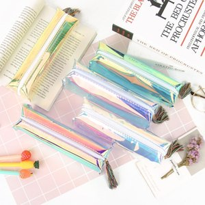 Laser Tassel Pencil Case Pen Bags PU Makeup Storage Bag Girls Stationery Gift Pencilcase School Supplies