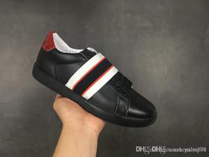 gucci Little bee Shoes negro nuevo Bee Web bordado hombres mujeres ACE cuero genuino diseñador zapatillas blancas mejor moda zapatos casuales