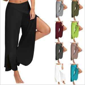 2019 Femmes 11 couleurs Yoga larges de la jambe Casual Pants Femme Casual desserrées solide couleur dames Yoga Pantalon Équilibre loose entraînement de grande taille 4XL 5XL