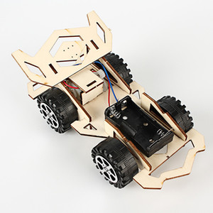 Creative electric wooden racing elementary school students science and technology small production invention science experiment