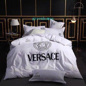 Дизайн белый новый покрывало костюм круглый принт люди голова мода постельное белье лист 4шт пододеяльник фирменные постельные принадлежности