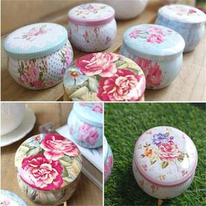 Tambor portátil en forma de lata cajas flor té contenedor latas Candy Cookie Box para el paquete de regalos de fiesta