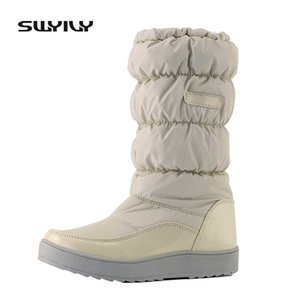 For -30 Degree Winter Snow Botos Women Platform High Boots 2019 New Female Fashion Tall Winter Warm Shoes Velvet Fur Snow Boot