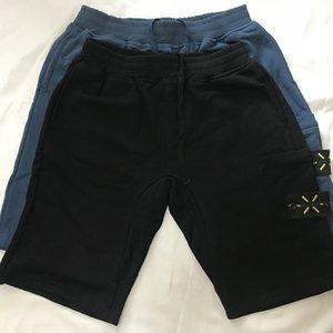 esplosioni di strada blu breve logo estivi ricamo legame americano materiale superiore bicchierini della spiaggia mens retrò pantaloni di cotone di sport cinque pantaloni