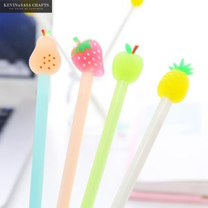 4Pcs Fruit Gel-Feder-nette Feder Stationary Kawaii Schulbedarf Gel-Tinten-Schule Stationary Office-Lieferanten Geschenk-Büro