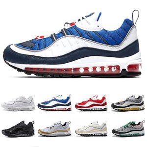 Nike Air max 98 shoes Gundam X OG Blue Black Men Running Shoes Joint Limited Sneakers Sports Fashion Racing Runner Men Women Personality Trainer