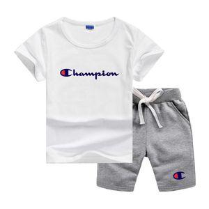 CHMP Marque Logo Designer de luxe les petits enfants Ensembles vêtements griffés bébé fille infantile 2Pcs / ensembles pour bébé Garçons Filles Coton style d'été Ensembles