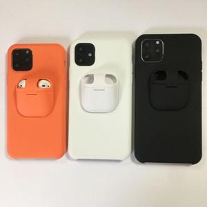 2in1 Airpods Abdeckung und Liquid-Silikon-Kasten für iPhone 11 Pro Max XS Max XR XS X 8 7 6 6s plus