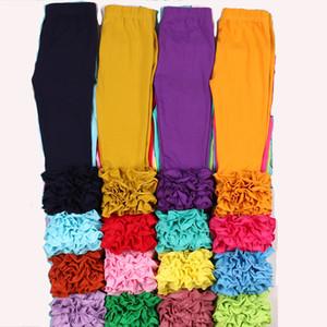 MUDBALA Boutique criança Meninas Triplo Ruffle gelo Leggings bebê roupa da menina fundo sólido Cotton Ruffled Calças Y200704