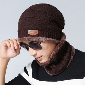 Winter Warm Hat Scarf Set for Adults Kids Knit Beanie Cap and Scarf with Fleece Lining 2-Piece Slouchy Thick Neck Warm Knitting Cap