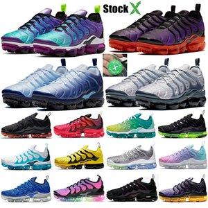 Además TN Hyper Violeta hombres mujeres zapatos para correr cuadrícula de impresión Sea verdadero espíritu verde azulado arco iris Negro láser carmesí para hombre zapatillas de deporte entrenador personal de diseño