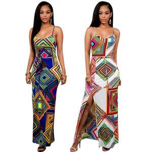 Moda-Europeu Camisole Geometria Número Impressão Vestido Restaurar Antigas Formas 2016 Primavera Xia Xuan Xuan Longuette
