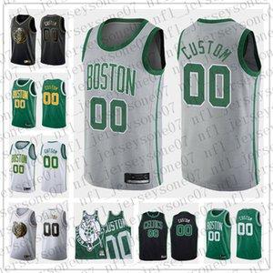 사용자 정의 남성 청소년 보스턴셀틱스99 Tacko회색 녹색, 검정, 흰색 후퇴 농구 판 가을프로 농구 (NBA)저지