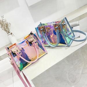 Yuhua, 2019 new women handbags, fashion composite bag, trend woman messenger bag, Korean version laser shoulder bag. CJ191210