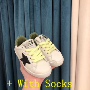 Kids Girls Italy Brand Multicolor Heel Golden Superstar Gooses Designer Sneakers Childrens Classic White Do-old Dirty Shoes Hi Star Shoes