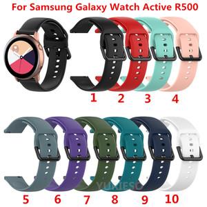 Samsung Galaxy İzle için 20mm Silikon Watchband Aktif R500 42mm Dişli S2 Spor Huami Amazfit BIP Ticwatch 2 Yedek Bilezik Band Kayışı