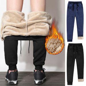CALDO Mens Athletic pantaloni foderato in pile spessi pantaloni casual jogging caldi allentati per l'inverno 19ING