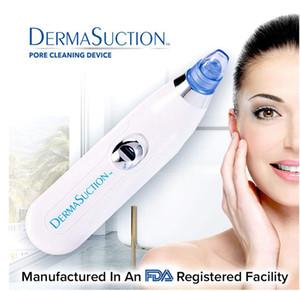 New DermaSuction Removedor de Poros Facial Cleaner Poros Elétricos de Remoção de Extração De Vácuo Recarregável Pele Peeling Máquina DHL