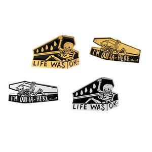 4 Set Gothic Cartoon Brooch Pins Enamel Brooches Lapel Pins Badge for Clothing Bag Hat Decor