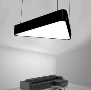 Pendente moderna LED soffitto lampade acrilico creativo fai da te Lampadario Illuminazione Triangolo decorazione dell'ufficio Palestra Indoor Hanglamp LLFA