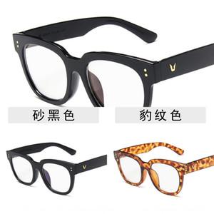 mi ding frame anti-blue light series unisex Eyeglasses fixing device jelly color oversized blue tape plain mirror glasses