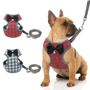 Малые собаки Проводка и поводок Набор Pet Cat Vest Harness с Bowknot Mesh проложенный для малого Щенки Чихуахуа йорки Мопс