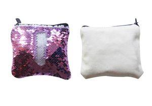 Coin Sublimation Blank Purses Change 8colors 50pcs Hot Sequins Transfer Printing Wallet Short Ddtwr