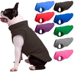 Otoño Invierno Fleece chaleco para perro del tiempo frío camiseta sin mangas caliente para los pequeños perros Medio