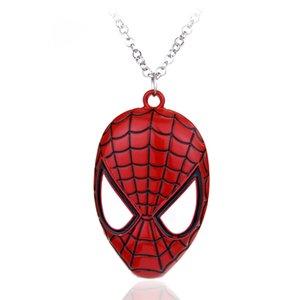 MQCHUN Süper Kahraman Örümcek Adam Kolye Kolye Örümcek-adam Moda Punk takı Erkek Erkek Çocuk Parti Iyilik Bildirimi Necklace-30