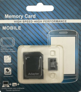 new version Micro TF Memory Card Class 10 With Adapter Class 10 TF Memory Cards with Free SD Adapter Retail Package