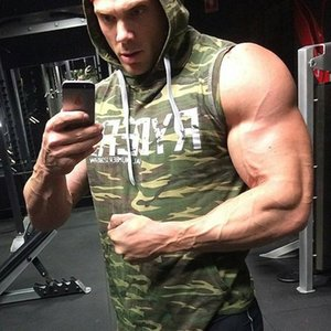 2020 Running Vest Hoodie Tank Sleeveless T-shirts For Men Sweatshirts Fitness Clothes Bodybuilding Tops