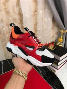 dior b24 casual shoes hococal B22 Chaussures B23 Kalbsleder Schuhe Herren Low Top Baskets High-End-alt-beiläufige Schuh-Frauen-flache Segeltuch-Turnschuhe 35-45