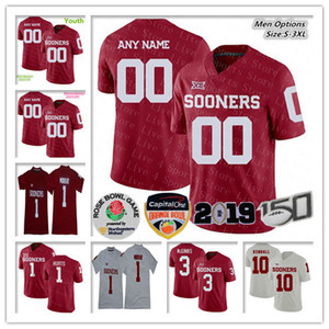 Personnalité Hommes Femmes Enfants Oklahoma Sooners Maillot Football Billy Sims Rodney Anderson Caleb Kelly Levi Draper Jones McGinnis Kendall NCAA 150TH