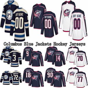 Columbus Blue Jackets Jersey 71 Nick Foligno 3 Seth Jones 9 Artemi Panarin 72 Bobrovsky Gewohnheit irgendein Name Alle Trikots Anzahl Hockey