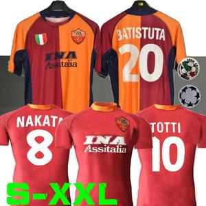 2000 2001 Jersey retro roma fútbol 00 01 TOTTI BATISTUTA Candela Montella camisa conmemorar clásico Colección 2002 roma Maglia da calcio