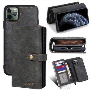 PU Leather case Retro Wallet Phone Case for iphone 11 11pro max 7 8 plus xsmax xr x Phone Credit Card Slots for samsung S20 S10 Huawei p30